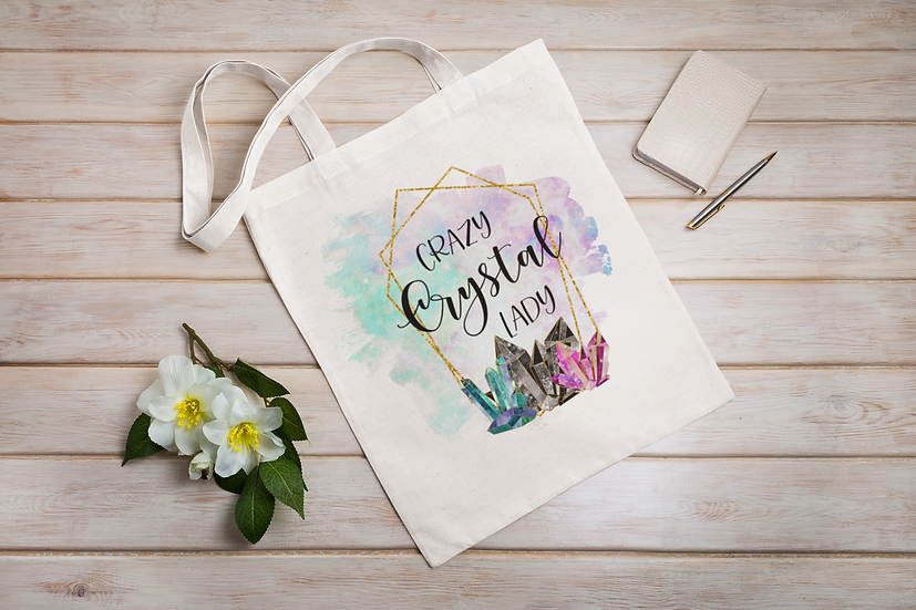 Crazy Crystal Lady Shopper Tote bag