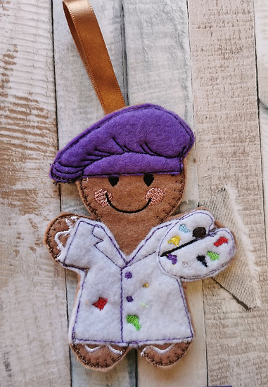 Artist Painter Gingerbread