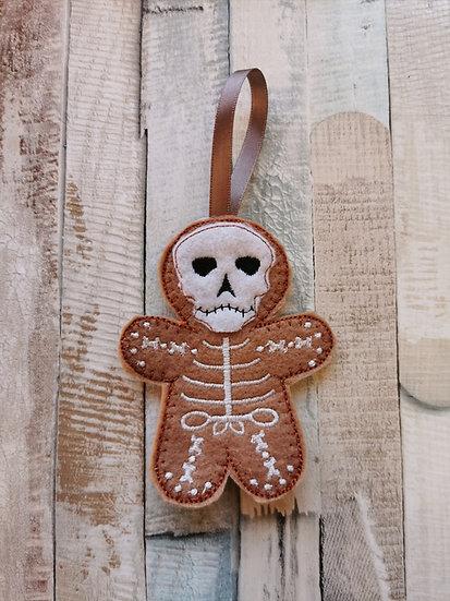Skeleton Halloween Gingerbread