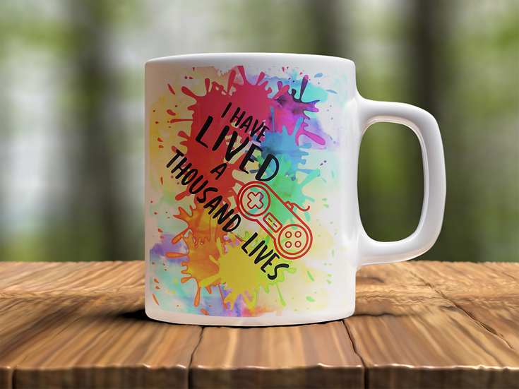 Lived A Thousand Lives Gamer Mug