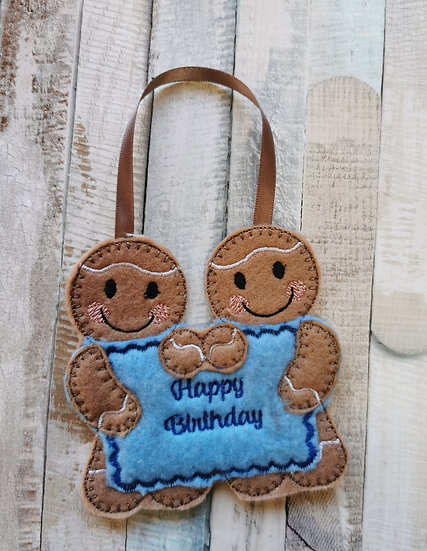 Happy Birthday Personalided Message Gingerbreads