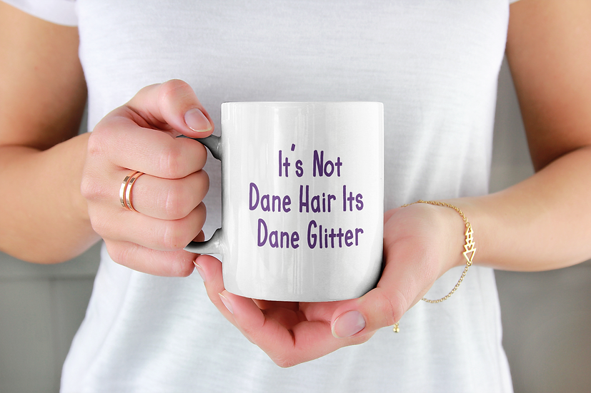 Great Dane Glitter Mug