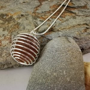 Brown Cornish Sea Glass Pendant