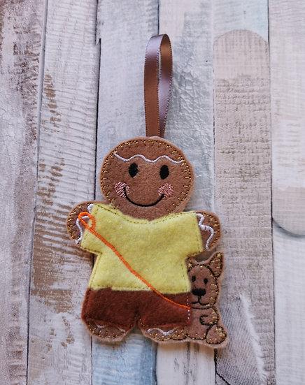 Dog Walker Dog Lover Gingerbread