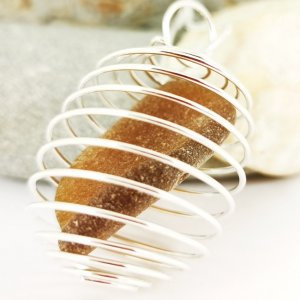 Brown Cornish Sea Glass Pendant