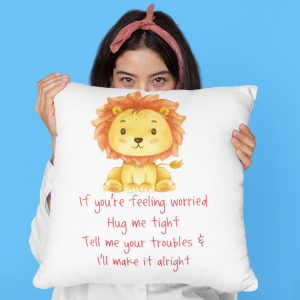 Lion Worry Cushion