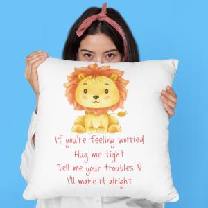 Lion Worry Cushion