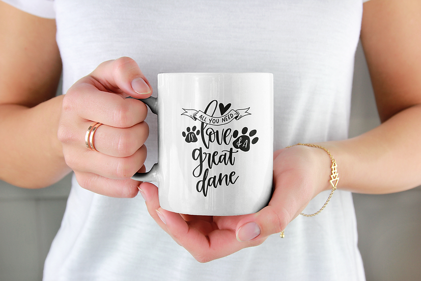 All you need Love Great Dane mug