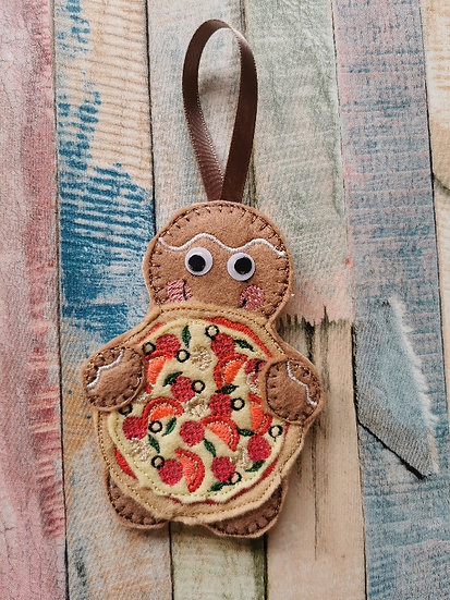 Pizza Delivery Gingerbread with Googly Eyes