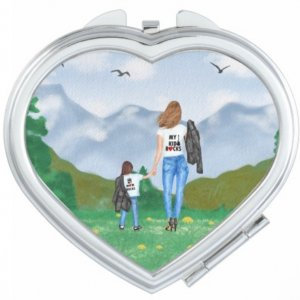 Moms & Kids We Rock Compact Mirror Customisable