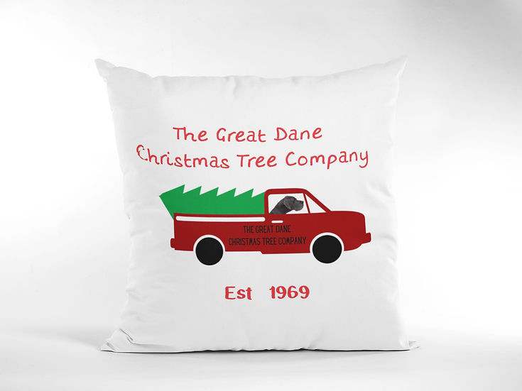 Great Dane Christmas Tree Delivery Cushion
