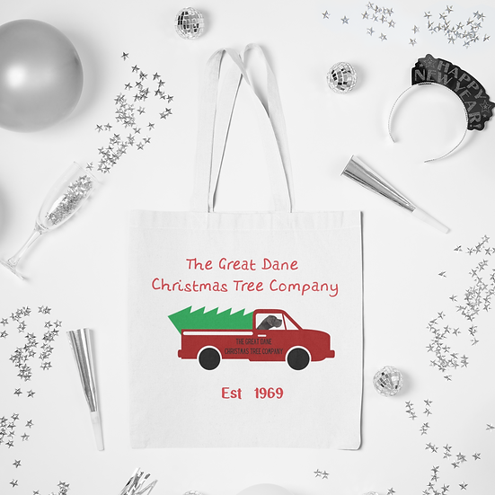 Great Dane Christmas Tree Delivery Tote Bag