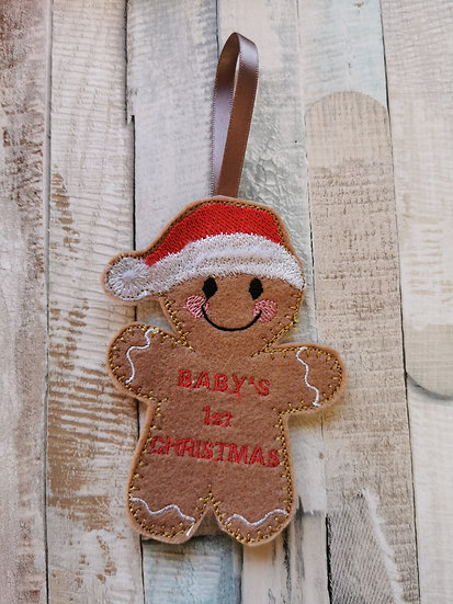 Baby's 1st Christmas Gingerbread
