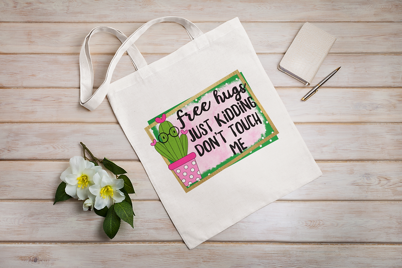 Free Hugs Funny Cacti Shopper Tote Bag