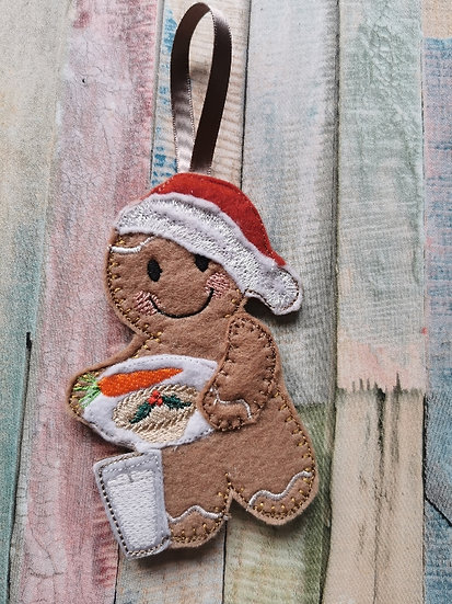Santa Plate Christmas Eve Gingerbread