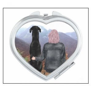 Heart Compact Mirror  Customisable
