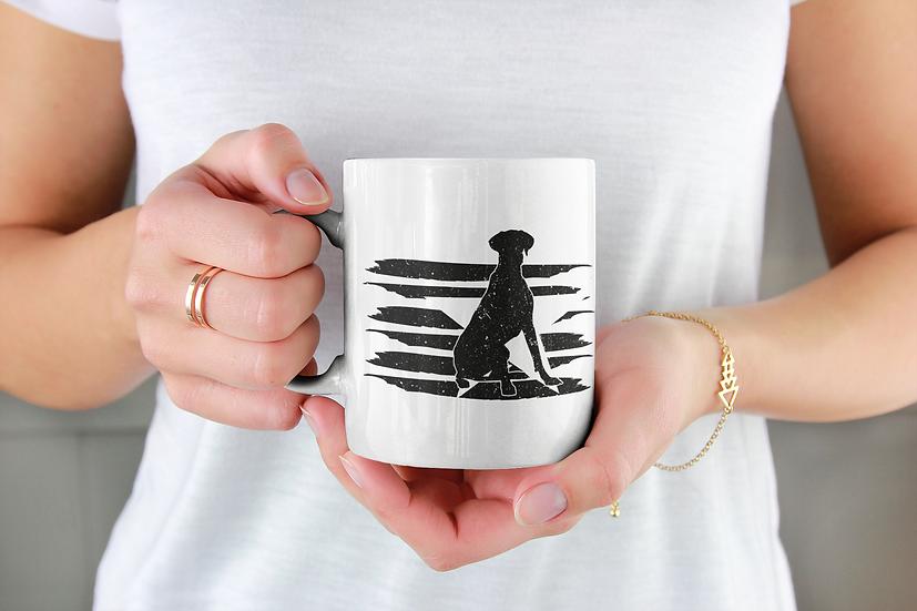 Great Dane distressed effect flag mug