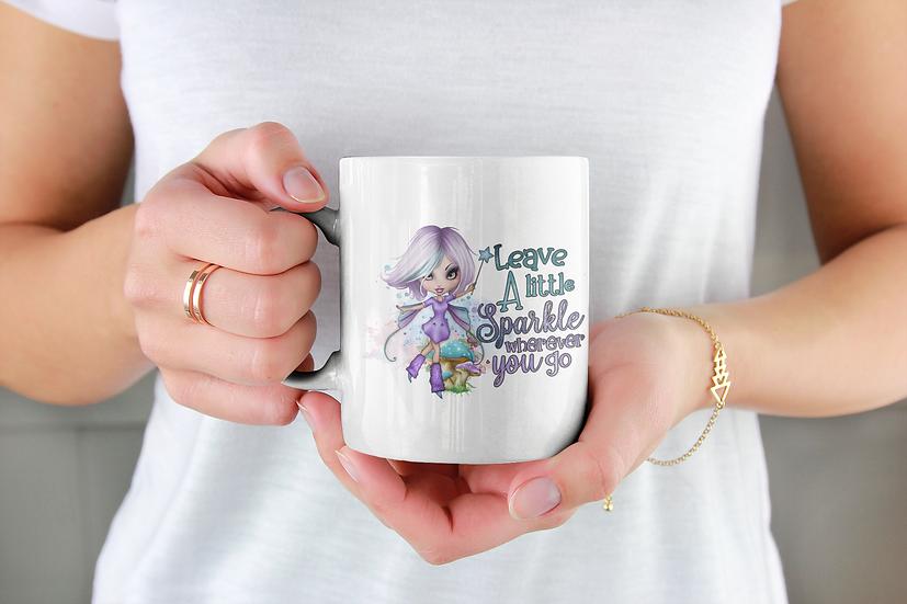 Leave a little sparkle mug