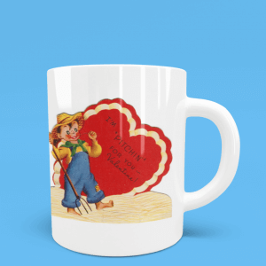 I'm Pitchen for you Valentine mug