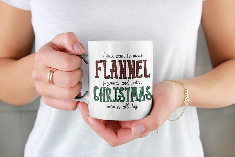 Flannel & Christmas Movies Mug