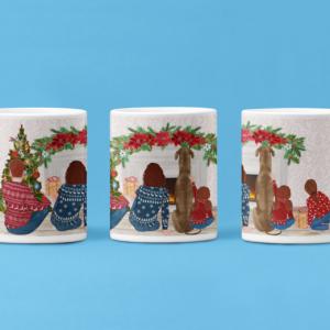 Christmas Family Mug Customisable