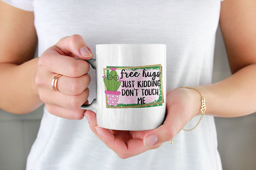 Free Hugs Funny Cacti Mug