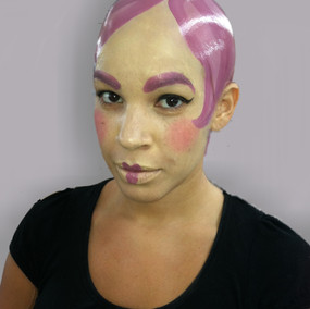 Painted Doll with bald cap