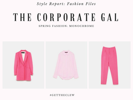 Corporate Gal Fashion: Get in Formation, Monochrome Style!!