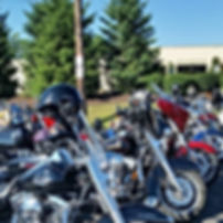 Bikes lined up for fundraiser ride