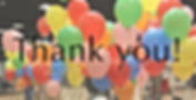 Thank you with balloon background