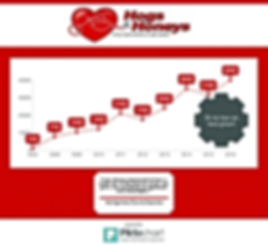 Growth chart of donated funds from Spring Fling
