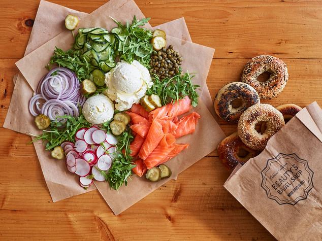 Beautys Bagels_Lox Platter_bagels_lunch Oakland California