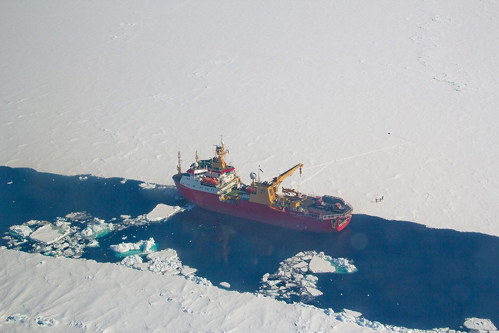 MetaSensing aerial photo of the mighty Ernest Shackleton