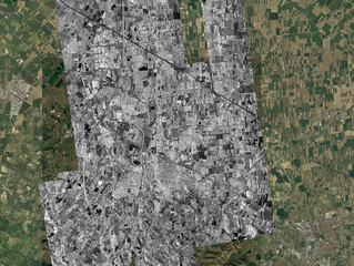 High-resolution L-band SAR images for water leakage detection.