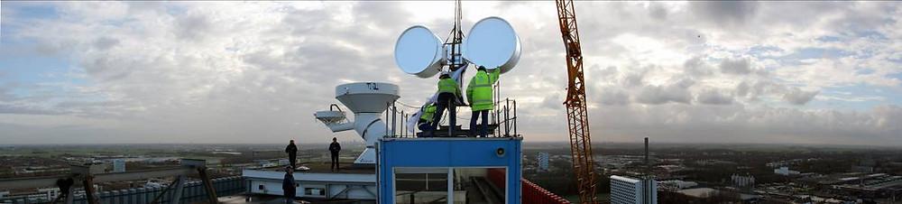 MetaSensing QX-60 on top of EWI building, Deft.