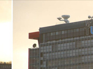 QX-60 weather Radar installed on top of the highest building in Delft.