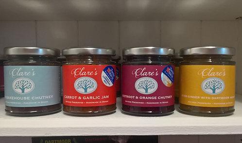 Clare's Preserves Chutney range