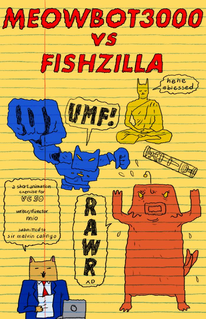 Meowbot3000 VS Fishzilla