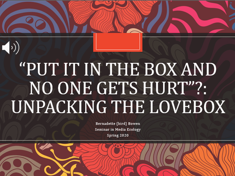 """""""'Put it in the Box and No One Gets Hurt?': Unpacking the Lovebox"""" Narrated Presentation"""