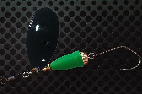 FSL Bell Spinners - Gloss Black/Flo Green