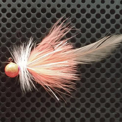 Full Tail Jigs (1/4 oz) - Georgia Peach - Peach Head - (FT12)