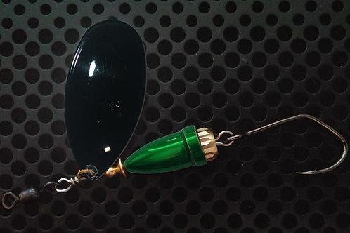 FSL Bell Spinners - Gloss Black/Candy Green
