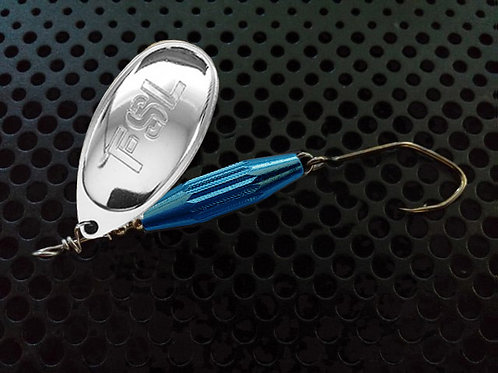 Torpedo Spinners - Polished Silver/Candy Blue