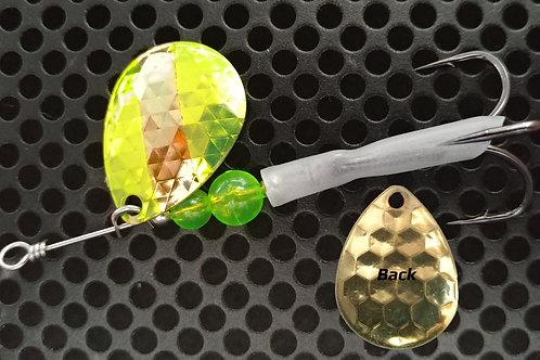 #3.5 R&B Colorado Spinners - Brass Candy Yellow Stripe