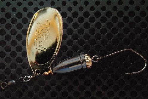 FSL Bell Spinners - Polished Brass/Translucent Black