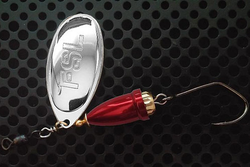 FSL Bell Spinners - Polished Silver/Candy Red