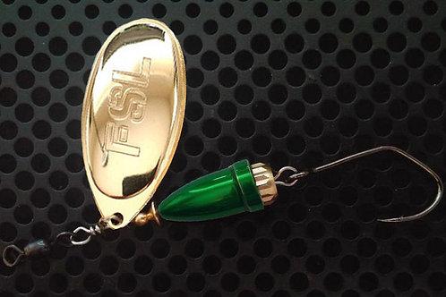 FSL Bell Spinners - 24K Gold/Candy Green