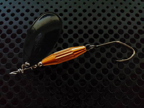 Torpedo Spinners - Black/Candy Orange