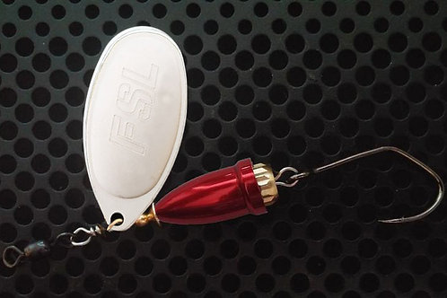 FSL Bell Spinners - Matte Silver/Candy Red