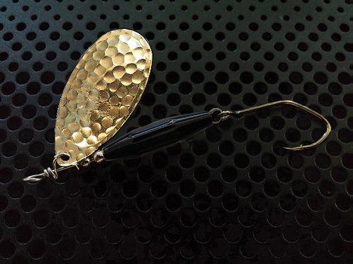 Torpedo Spinners - Hammered Brass/Gloss Black